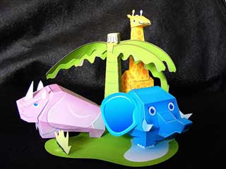 Little Zoo Papercraft