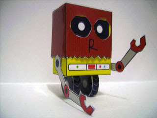 Paper Bag Robot Papercraft