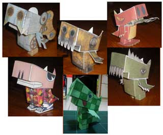 Cutzilla Paper Toy Series 2