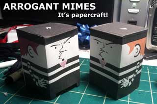 Arrogant Mime Papercraft
