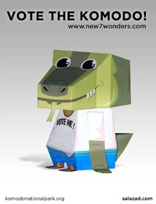 Komodo Dragon Papercraft