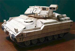 M2A2 Bradley Fighting Vehicle Papercraft
