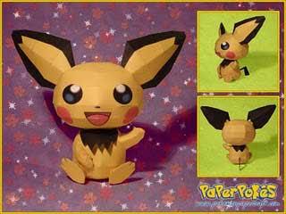 Pokemon Pichu Papercraft