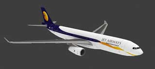 Jet Airways Airbus A330 Papercraft