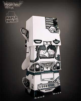 Paper Totem Pandacrew 2