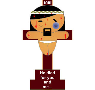 Crucifixion of Jesus Papercraft