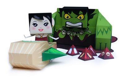 Timun Mas Paper Toy