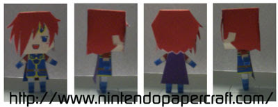 Fire Emblem Roy Papercraft