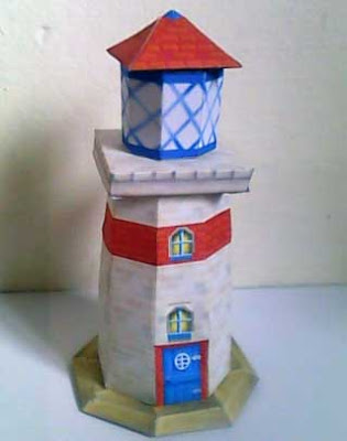 Lighthouse Papercraft (Diddy Kong Racing)