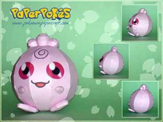 Pokemon Igglybuff Papercraft