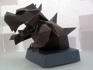 Bowser Statue Papercraft