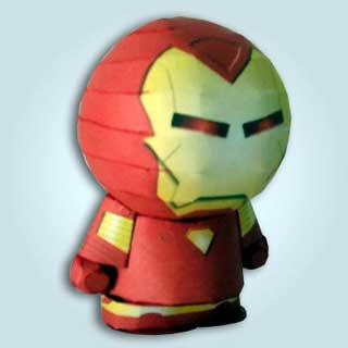 Park Heroes Iron Man Papercraft