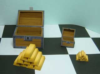 Gold-laden Treasure Chest Papercraft