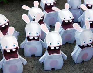 Rayman Raving Rabbids Papercraft 2
