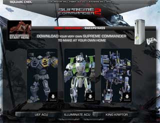 Supreme Commander 2 Papercrafts