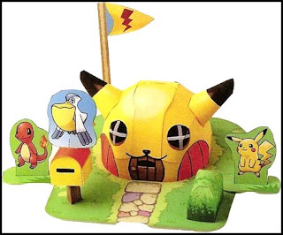 Heres Pikachus Pokemon HQ Papercraft Found On A Special Issue Of The Dengeki GameCube Magazine Based Mystery Dungeon This Set Includes 3D