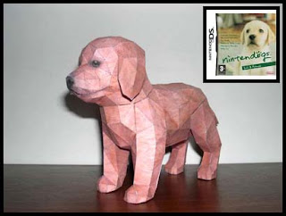Papercraft imprimible y armable del Perro Golden Retriever. Manualidades a Raudales.