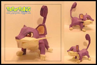 Pokemon Rattata Papercraft