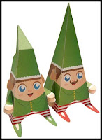 Christmas Papercraft Santa's Little Helper Elves