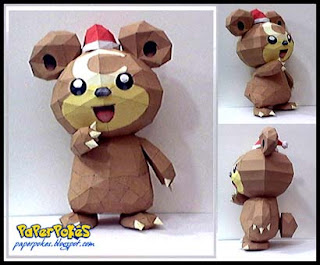 Pokemon Teddiursa Papercraft