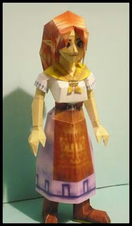 Legend of Zelda Malon Papercraft