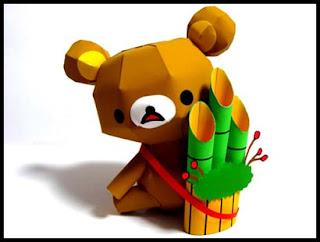 Relax Bear Kadomatsu Papercraft