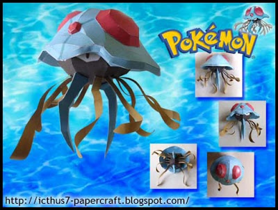 Pokemon Tentacruel Papercraft