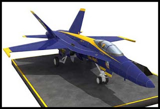 F18 Hornet Blue Angels Jet Papercraft