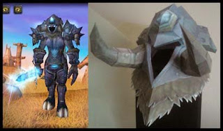 World of Warcraft Death Knight Helm Papercraft