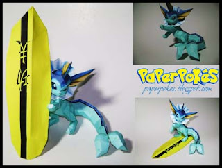 Pokemon Vaporeon Papercraft