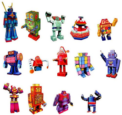 Retro Robot Papercrafts