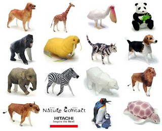 Hitachi Animal Papercraft