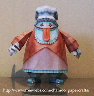 Final Fantasy IX Quina Papercraft