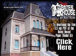 Psycho Bates House Papercraft
