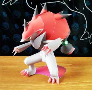 Pokemon Zoroark Papercraft