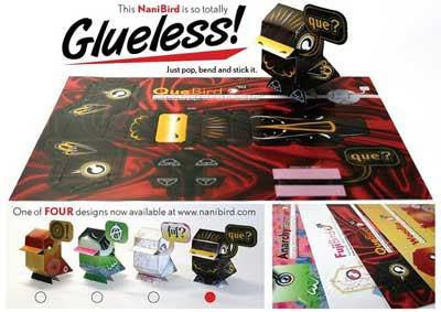Glueless Nanibird Paper Toys