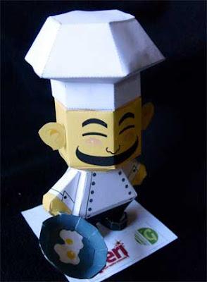 Chef papercraft