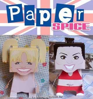 Spice Girls Papercraft - Sporty Spice x Baby Spice