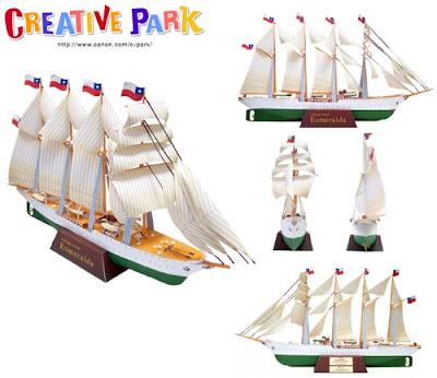 Esmeralda Sailing Ship Papercraft