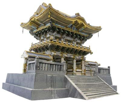 Nikko Toshogu Shrine Papercraft Yomeimon