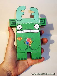 Sneeder Monster Papercraft Toy