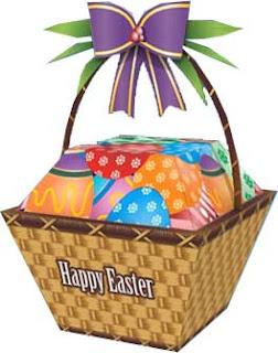 Easter Basket Papercraft
