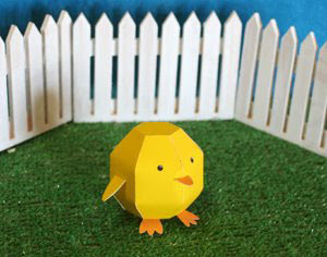 Spring Chick Papercraft
