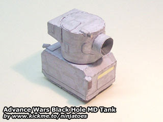 Advance Wars MD Tank Papercraft