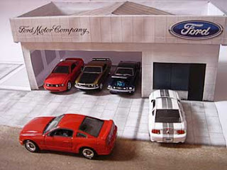Ford Dealership Papercraft
