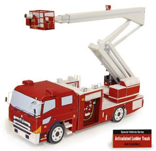 Skyarm Sigma Fire Truck Papercraft