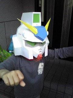 gundam papercraft rx78nt1 mask paperkraftnet free