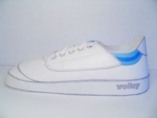 Dunlop Volley Shoe Papercraft