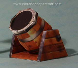Barrel Cannon Papercraft
