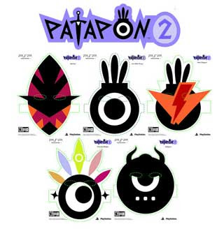 Patapon 2 Paper Masks